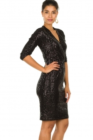 Set |  Dress with sequins Lulu | black  | Picture 5