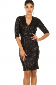 Set |  Dress with sequins Lulu | black  | Picture 2