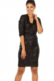 Set |  Dress with sequins Lulu | black  | Picture 7
