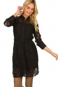 Aaiko |  Lace dress Ladina | black  | Picture 6