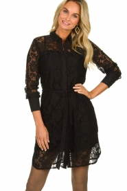 Aaiko |  Lace dress Ladina | black  | Picture 2