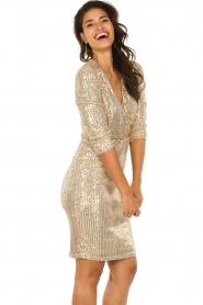 Set    Sequin dress Lulu   gold    Picture 5