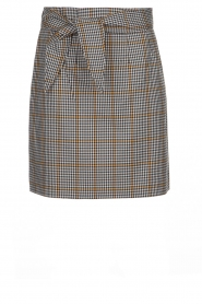 Aaiko |  Checkered skirt Patia | black & white  | Picture 1