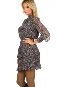 Aaiko |  Blouse with floral print Felia | black  | Picture 4