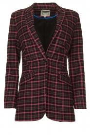 Aaiko |  Checkered blazer Adeline | black  | Picture 1
