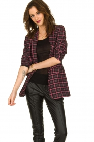 Aaiko |  Checkered blazer Adeline | black  | Picture 5