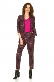 Aaiko |  Checkered blazer Adeline | black  | Picture 3