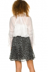 Set |  Skirt with leopard print Zara | blue  | Picture 5