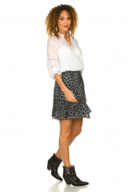Set |  Skirt with leopard print Zara | blue  | Picture 3