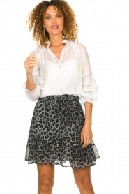 Set |  Skirt with leopard print Zara | blue  | Picture 2