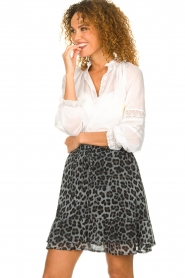 Set |  Skirt with leopard print Zara | blue  | Picture 6