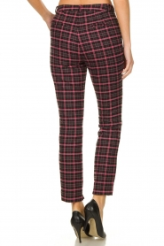 Aaiko |  Checkered pants Parien | black  | Picture 4