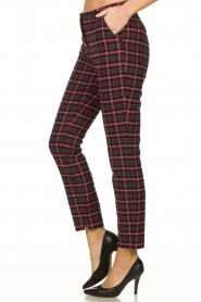 Aaiko |  Checkered pants Parien | black  | Picture 3