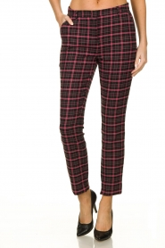 Aaiko |  Checkered pants Parien | black  | Picture 2