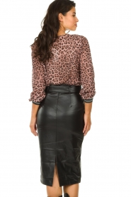 Set :  Faux leather skirt Celine | black - img5