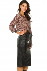 Set :  Faux leather skirt Celine | black - img4