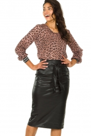 Set :  Faux leather skirt Celine | black - img2