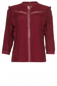 Aaiko |  Blouse with cut-outs Verana | red  | Picture 1