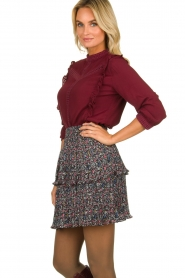 Aaiko |  Blouse with cut-outs Verana | red  | Picture 4