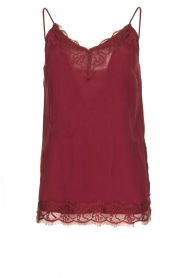 Aaiko |  Lace top Vlira | red  | Picture 1