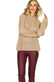 Aaiko |  Chunky knitted sweater Milly | natural  | Picture 2