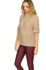 Aaiko |  Chunky knitted sweater Milly | natural  | Picture 5