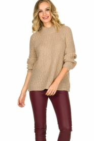 Aaiko |  Chunky knitted sweater Milly | natural  | Picture 4