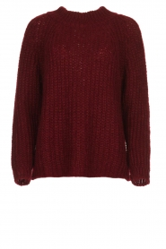 Aaiko |  Chunky knitted sweater Milly | red  | Picture 1