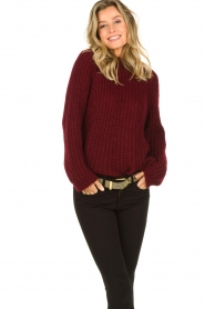 Aaiko |  Chunky knitted sweater Milly | red  | Picture 4