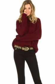 Aaiko |  Chunky knitted sweater Milly | red  | Picture 2