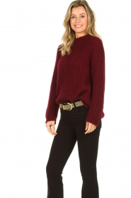 Aaiko |  Chunky knitted sweater Milly | red  | Picture 5