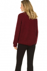 Aaiko |  Chunky knitted sweater Milly | red  | Picture 6
