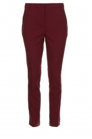 Aaiko |  Trousers with decorative buttons Parien | red  | Picture 1
