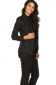 Set |  Blazer with panther print Vera | black  | Picture 4