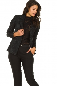 Set |  Blazer with panther print Vera | black  | Picture 6