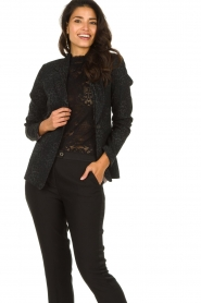 Set |  Blazer with panther print Vera | black  | Picture 2