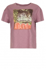 ba&sh |  Printed T-shirt Ted | purple  | Picture 1