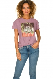 ba&sh |  Printed T-shirt Ted | purple  | Picture 2