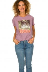 ba&sh |  Printed T-shirt Ted | purple  | Picture 6