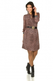 Set |  Dress with panther print Panter | pink  | Picture 3