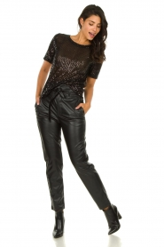 Set |  Faux leather paperbag pants Roxy | black  | Picture 4