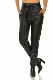 Set |  Faux leather paperbag pants Roxy | black  | Picture 2