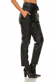 Set |  Faux leather paperbag pants Roxy | black  | Picture 5
