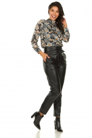 Set |  Faux leather paperbag pants Roxy | black  | Picture 3
