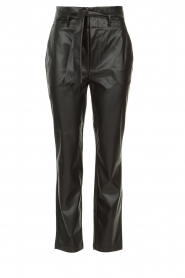 Set |  Faux leather paperbag pants Roxy | black  | Picture 1