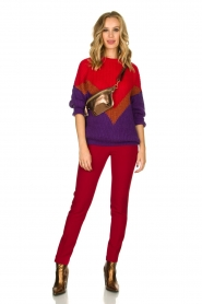 Kocca |  Classic trousers Jander | red  | Picture 6