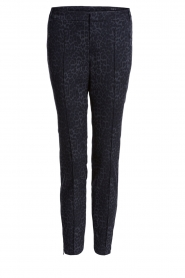 Set |  Trousers with leopard print Yara | black  | Picture 1