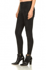 Set |  Trousers with leopard print Yara | black  | Picture 4