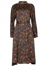 Silvian Heach |  Paisley printed midi dress Babal | grey blue  | Picture 1