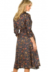 Silvian Heach |  Paisley printed midi dress Babal | grey blue  | Picture 5